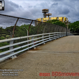 BDS Movement New York State Pavilion GCP Bridge Flushing Meadows park